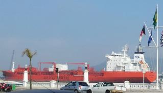 Norske Odfjel Tankers legger til kai i Santos 9. september