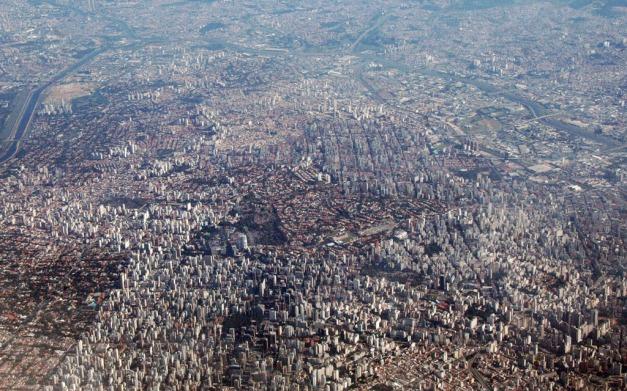 Oversiktsbilde av deler av Sao Paulo