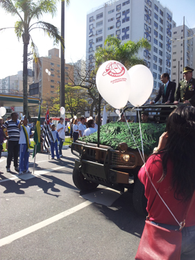 Santos' ordfører innleder opptoget